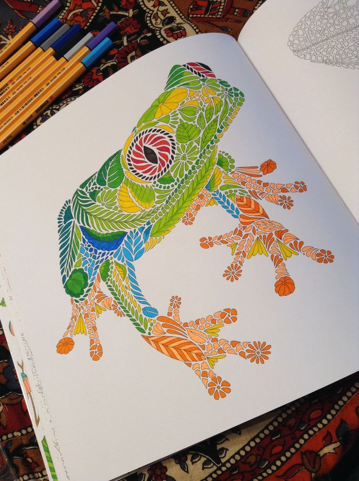 Tropical World Colored Pencil TutorialAdult ColoringColoring BooksColouringRainbowDrawingJohanna