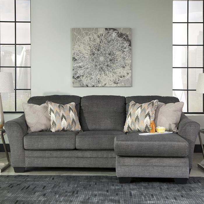 Braxlin Sofa Chaise in Charcoal | Nebraska Furniture Mart