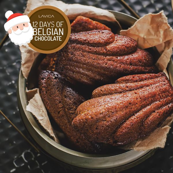 Belgian Chocolate Espresso Madeleines