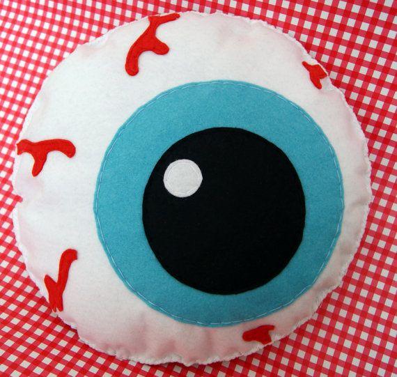 Squishy Eyeball Toy : Giant Plush Blue Eyeball Soft Toy/Cushion/Pillow Cool Emo Halloween Spooky cool stuff *wants ...