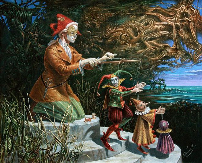 25 Absurdity Illusion Paintings by Michael Cheval - The Game of Imagination