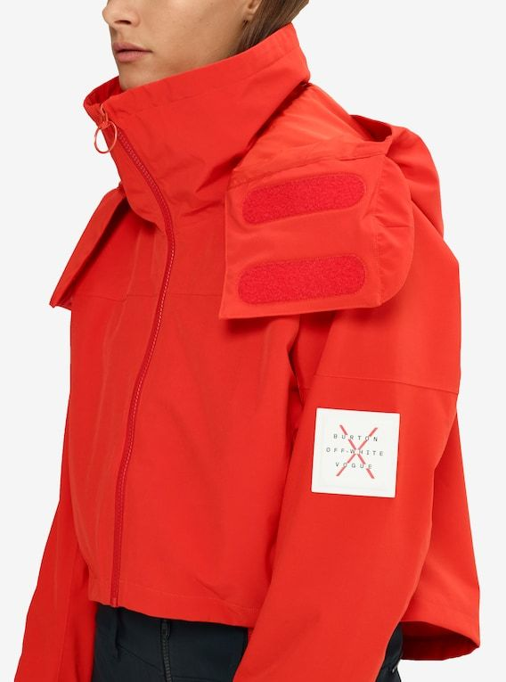 Women s Off-White™ x Burton x Vogue Selby Shell Jacket shown in Fiery Red cf12bd349