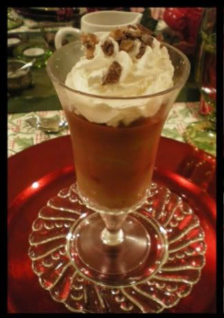 mocha toffee parfaits coffee flavored pudding chocolate sauce and ...