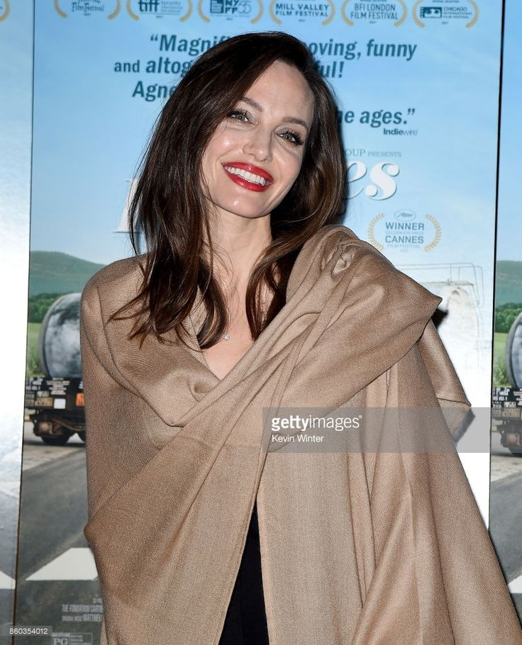 Angelina Jolie attends the premiere of Cohen Media Group's 'Faces Places' at Pacific Design Center on October 11, 2017 in West Hollywood, California.