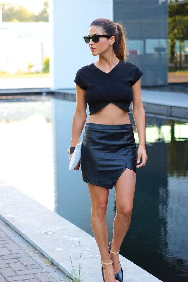 Negin from Negin Mirsalehi in the Jagged crossover crop top