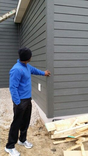 James Hardie Iron Gray siding                                                                                                                                                                                 More