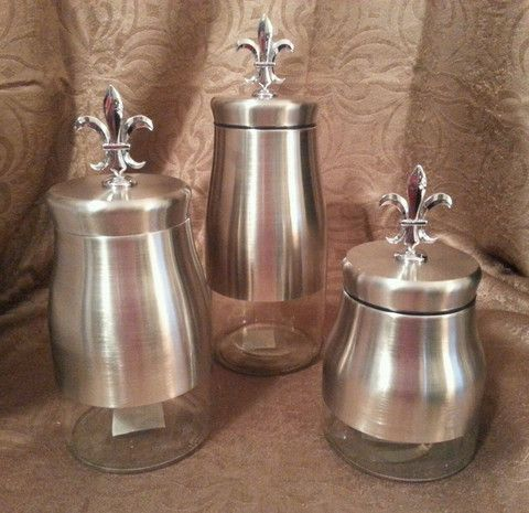 fleur de lis home decor canisters 1000 images about kitchen and bath on metals 13215