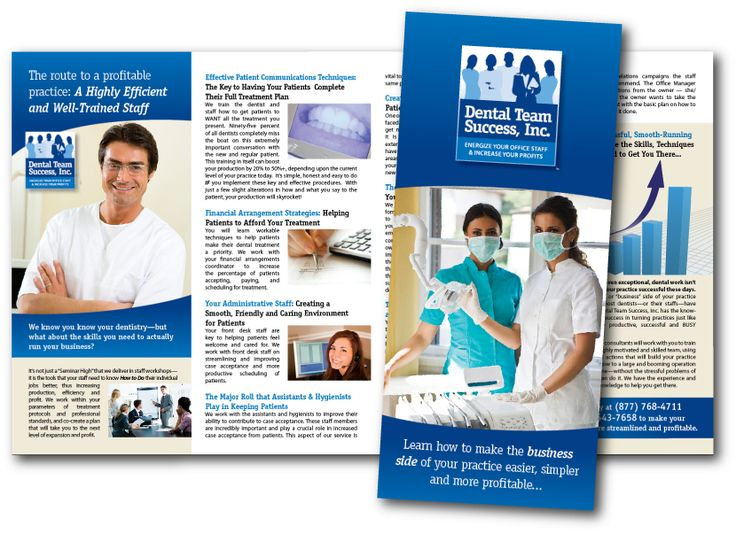 We can assist you in creating a unique brochure design for your dentistry.