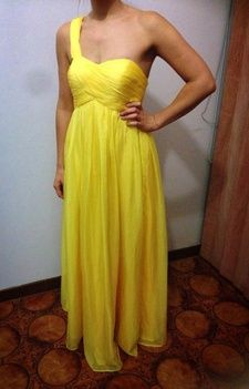 Canary Yellow cocktail / formal dress size 8-10