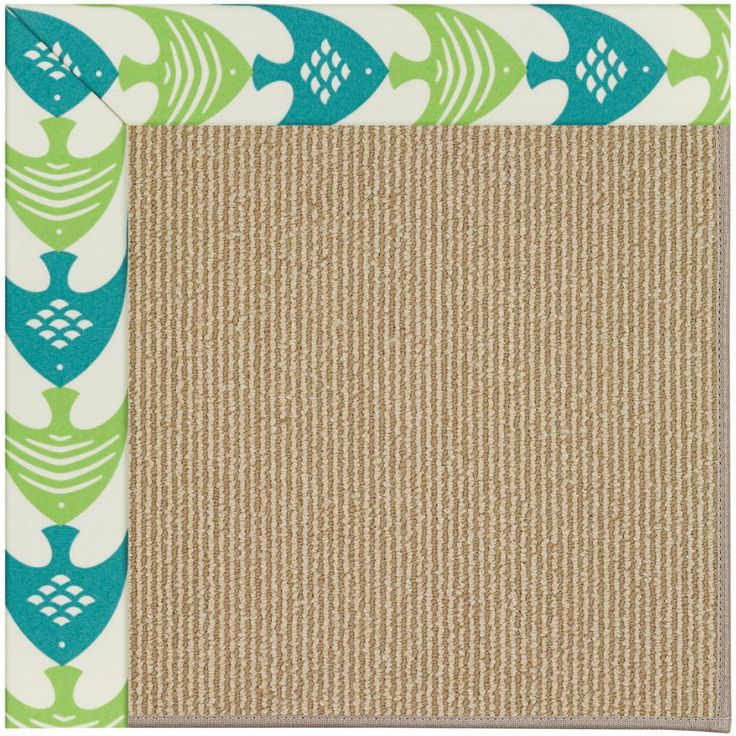 Zoe Machine Tufted Angel Fish Green And Beige Area Rug