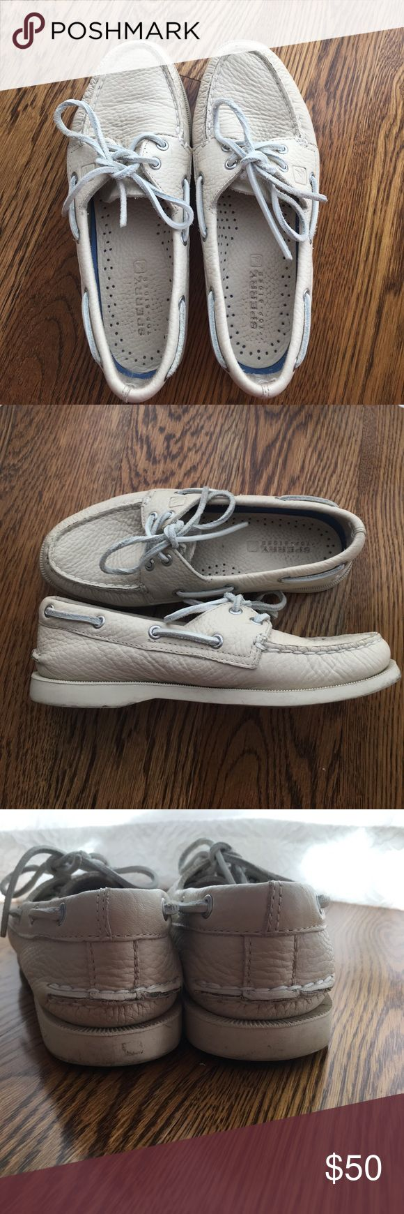 White Sperry Top- Sliders White leather size 5.5 Sperry Sliders Sperry Top-Sider Shoes Flats & Loafers