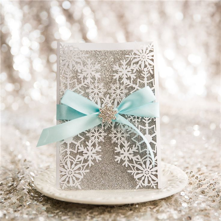 Elsa - Lace Pocket Laser cut invitation