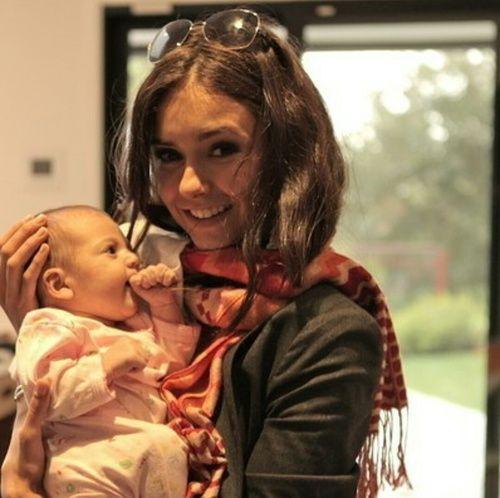 Nina Dobrev, baby, and the vampire diaries image