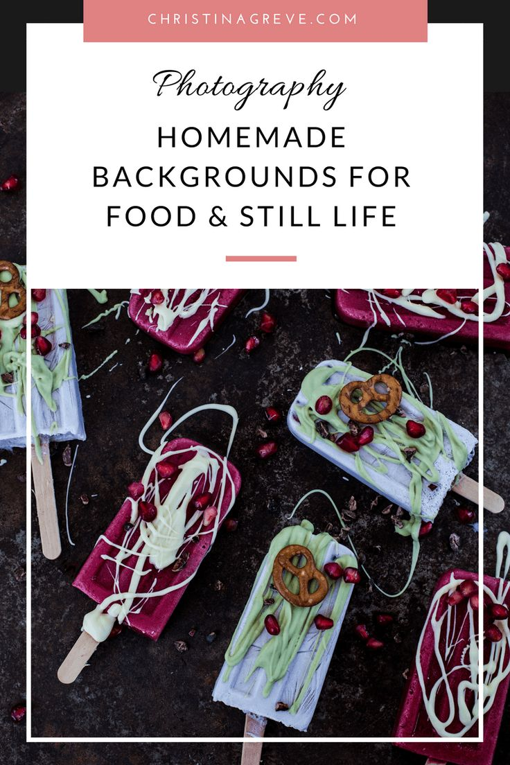 How To Make Homemade Backgrounds For Food & Still Life