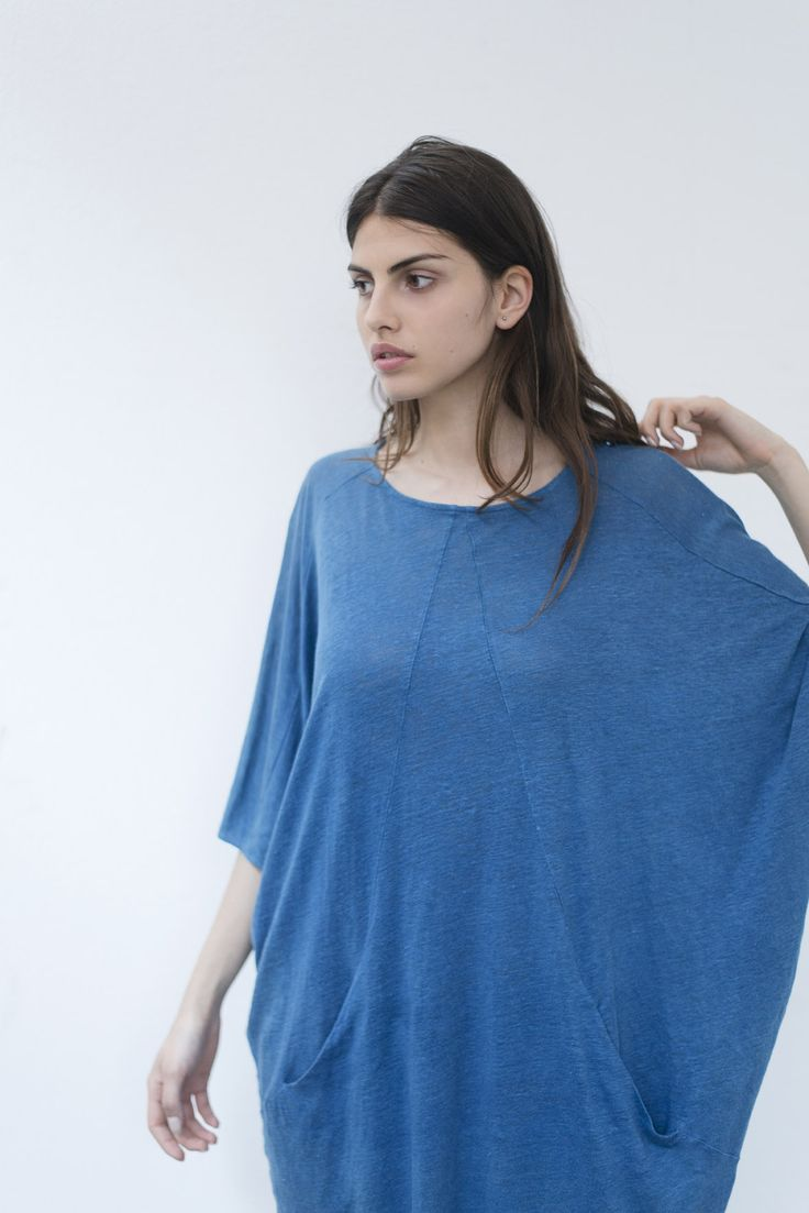 Want to know more about our Spring Summer Collection for 2016? Check our Trapeze Linen Jersey Dress!  You can find it at our Online Store www.bleudecocagne.com/shop!  _  #bleudecocagne #woad #natural #blue #pastel #spring #summer #collection #online #product #review