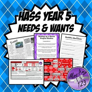 Year 5 HASS Unit- Needs & Wants - Economics, Geography & C