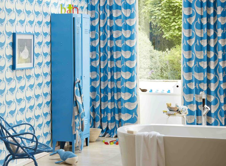 Have fun at bath time with our 'Whale of a Time' fabric and wallpaper with Scion's Guess Who collection!