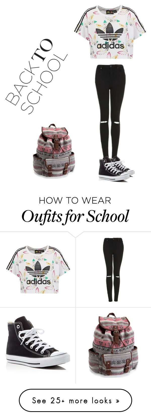 """""""Back To School 1"""" by jayjaybeauti on Polyvore featuring adidas Originals, Topshop, Converse and Aéropostale"""