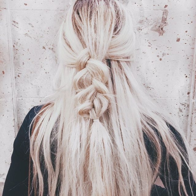 blonde + braids Pinterest.com/caitliinmorgan