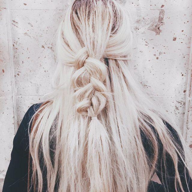 blonde + braids Pinterest.com/caitliinmorgan