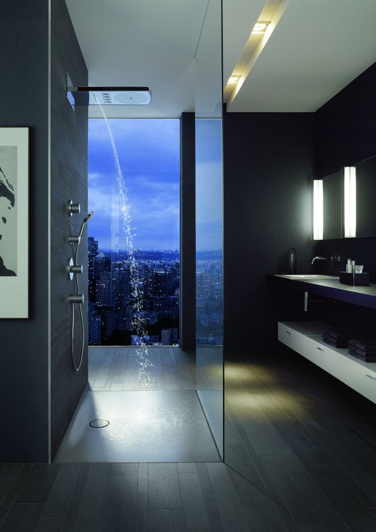 Check out this amazing shower with a very special water feature.