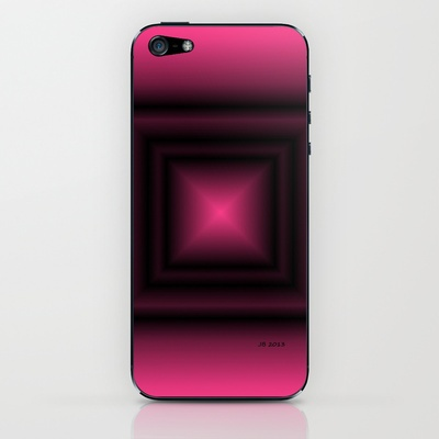 Pink & Square iPhone & iPod Skin by Johannes Beilharz - $15.00