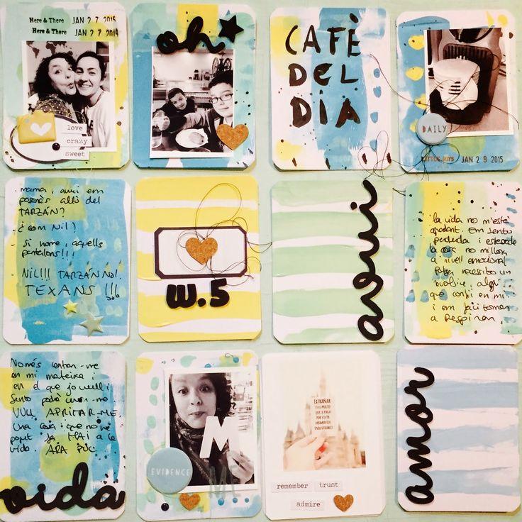 Project Life Cafe: Tutorial: Tarjetas Project life + pintura acrílica