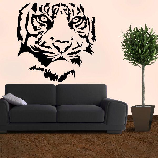 Trend Das Tigerwandtattoo zeigt deine wilde Seite und bringt ein Dschungel Feeling in deine vier W nde