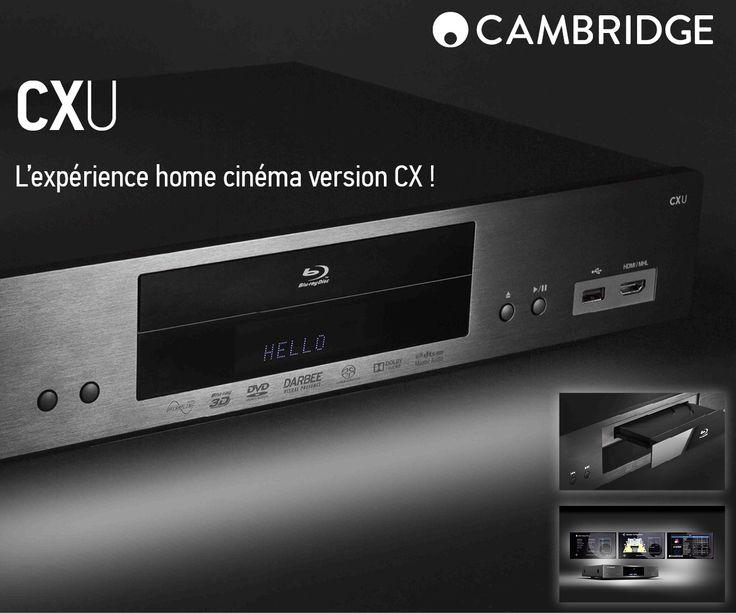 La gamme CX de Cambridge Audio au complet !!  Les cinéphiles avaient déjà les amplis CXR120 et CXR200, ils peuvent désormais compter sur un lecteur Blu-ray reprenant les  courbes magnifiques des CX !  Le CXU lira vos CD, DVD, Blu-Ray et même vos fichiers dématérialisés disponible sur votre réseaux ! Pour l'image ? Faites confiance au processeur DARBEE Visual Presence !