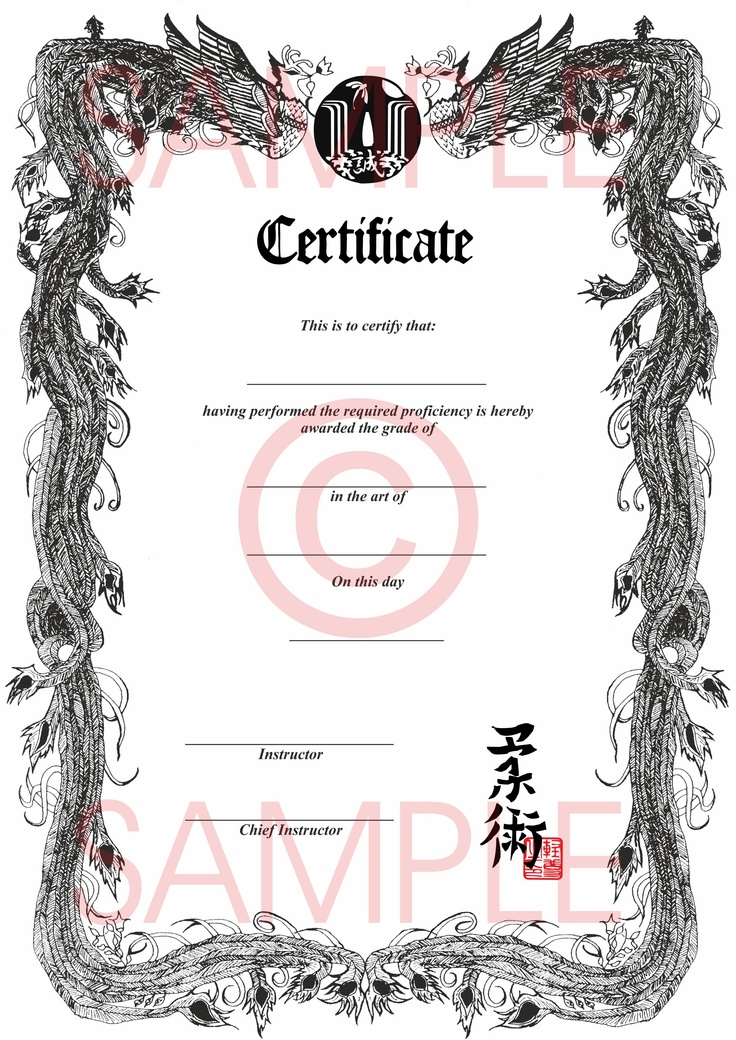 martial art certificate templates free - 17 best images about martial arts certificates on