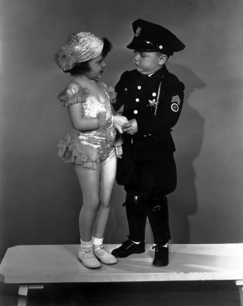 Darla Hood and Spanky MacFarland - Our Gang c. 1930s