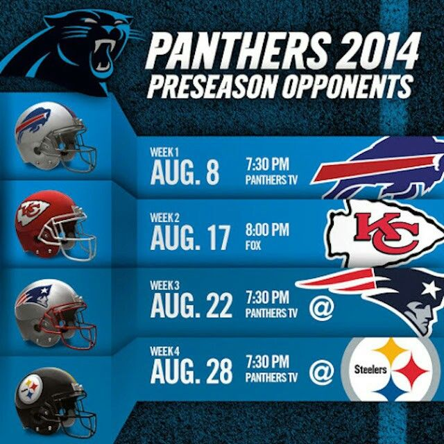 Carolina Panthers 2014 Preseason Schedule.