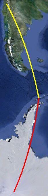 En términos latitudinales, Villa las Estrellas (-62º.2,-58º.9641), el poblado chileno de la Antártica, queda más cerca de la ciudad de San Fernando en la región de O'Higgins (-34º.5766,-70º.9977) que del Polo Sur (90º)