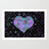 Tie Dye Heart Art Print