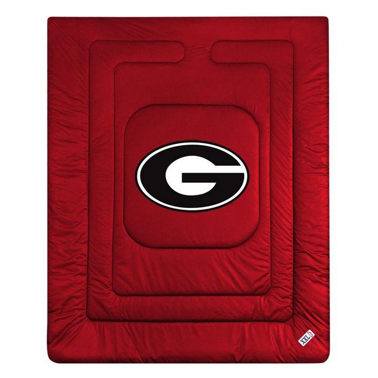 Georgia Bulldogs UGA Locker Room Bedding Comforter Blanket