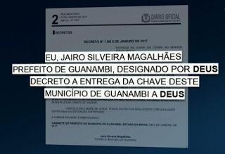 Galdino Saquarema Noticia: Prefeito entrega a chave da cidade a Deus