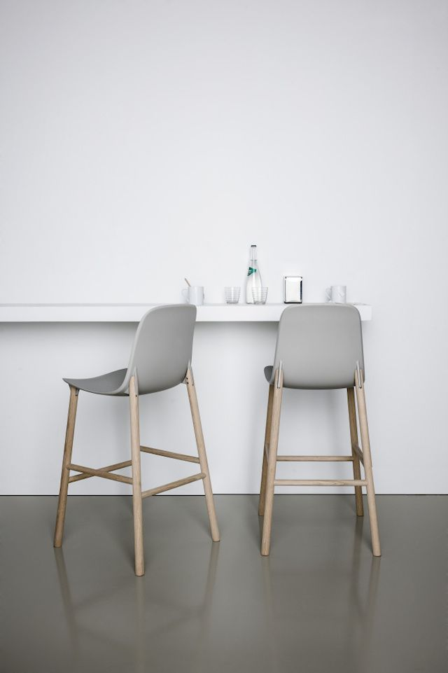 gray and wood  | chair . Stuhl .chaise | Design made in Germany: Eva Paster & Michael Geldmacher,  Neuland Industriedesign |