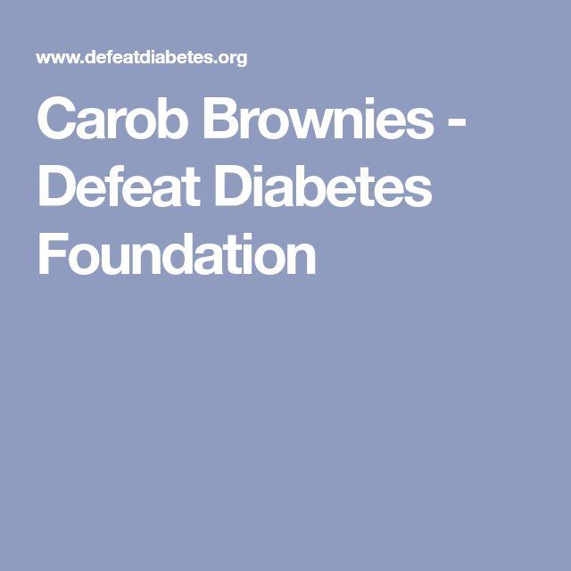 Carob Brownies - Defeat Diabetes Foundation