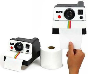 Dispensador de Papel Higiénico Polaroid Bathroom Toilet Paper Dispenser .