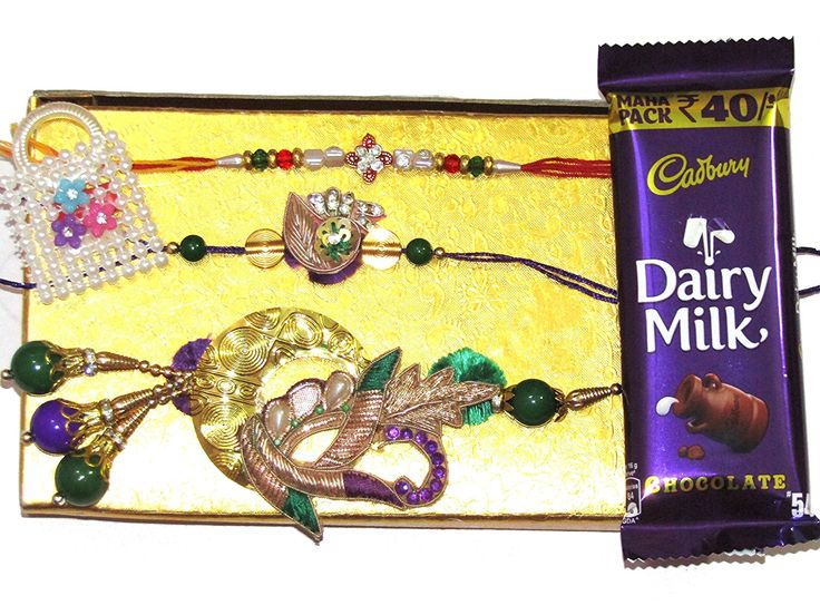 NKY #Rakhi Unique Design #Rakhi with #gift box, rakhi for #bhaiya, #lumba for bhabhi, #sadha #rakhi (moli), attractive #roli chawal pouch with #chocolate bar.
