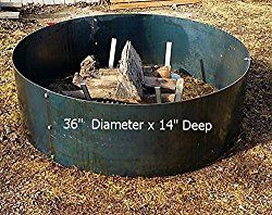 Steel Metal Fire Pit Ring Liner Insert 36″ x 14″