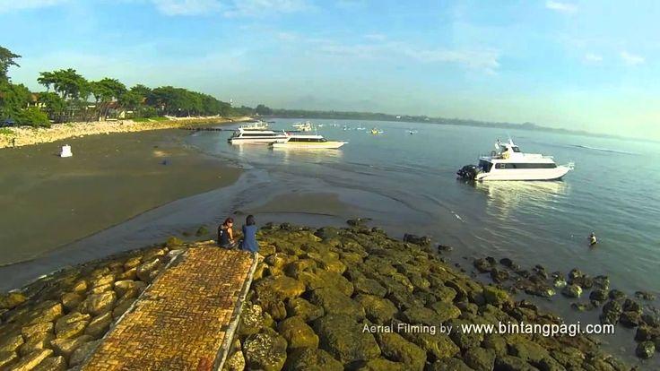 Aerial video Sanur Beach and Jimbaran Beach