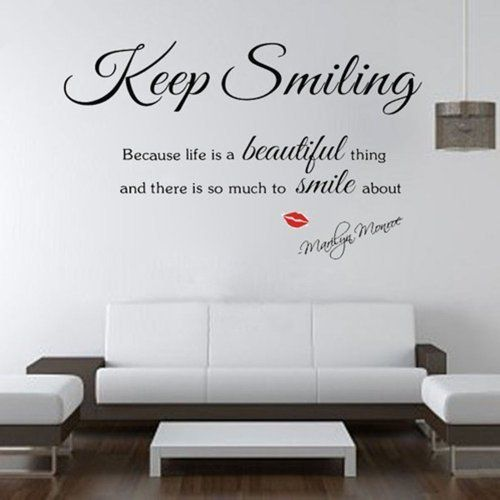 Marilyn Monroe Wall Decals: Keep Smiling Because Life Is A Beautiful Thing  And There Is Part 82