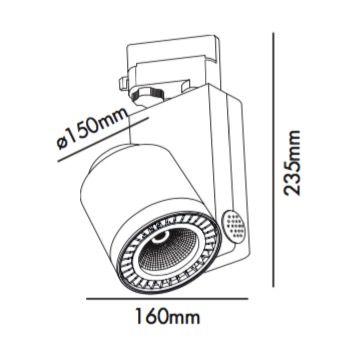 Minifoco de LED para riel específico para alimentación y tienda de ropa -serieW004 | Tienda de lámparas, lámparas de LED, ventiladores de techo, decoración
