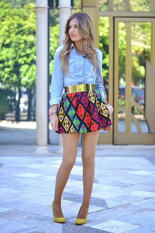 18 Fashionable Combination With Short Skirts For This Summer