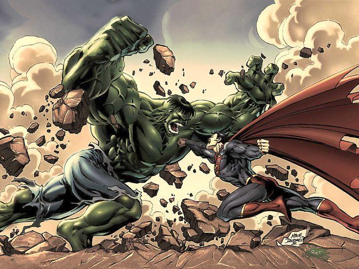 Hulk vs superman epic battle throw down!!!