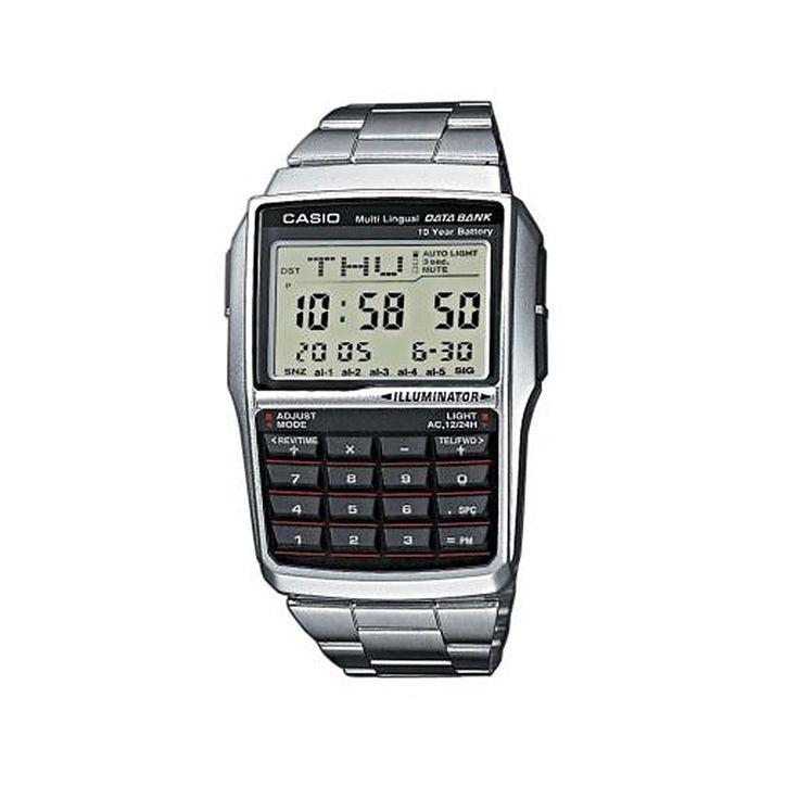 #calculadora #reloj #clásico #hombre #silver #moda #look