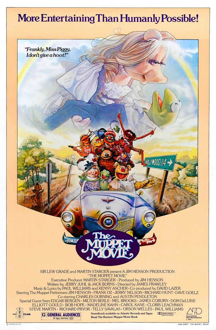 The Muppet Movie 1979; There may be a re-boot and I may have enjoyed it, there is nothing that beats this first big screen visit. I still tear up at those first few notes of 'Rainbow Connection'...