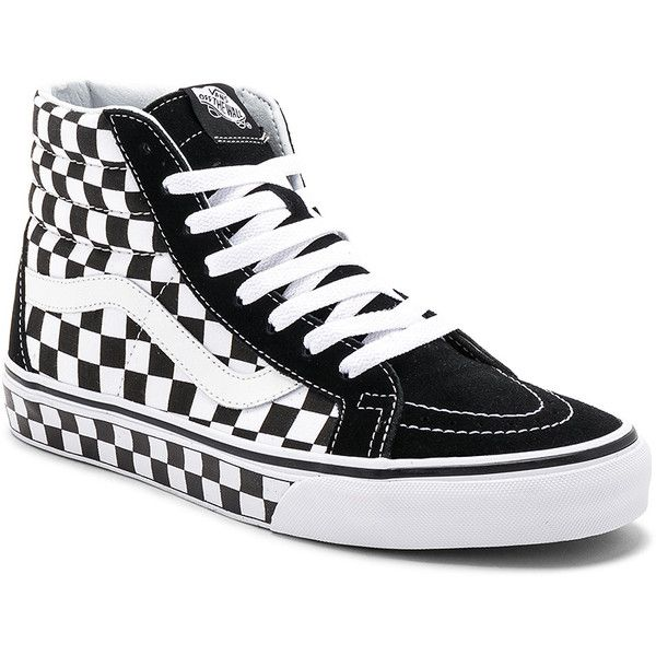 5bf0f641ac36cc Vans Sk8-Hi Reissue Checkerboard (20 KWD) ❤ liked on Polyvore featuring men s  fashion