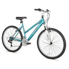 """Kent Terra 2.6 - 26"""" Ladies Mountain Bike 21 Speed - Teal/White : Target"""